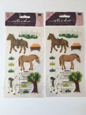 2 Paquetes De Calcomanías Para Scrapbooking Caballos Ponys