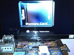 Game Cube Plata 2 Games + 1 Control + Memory Card