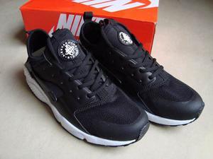 Kp3 Zapatos Deportivos Nike Air Huarache Negro Caballeros