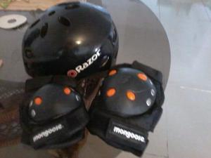 Oferta,casco Razor Con Accesorios De Proteccion Mongoose