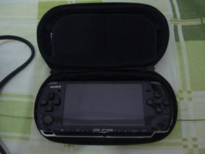 Psp  Sony Chipeado + Cargador, Estuche Y Memoria 4gb