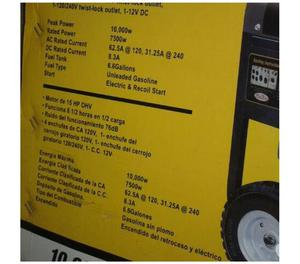 Vdo NVA planta generador electrico gasolina W PRIMIUM