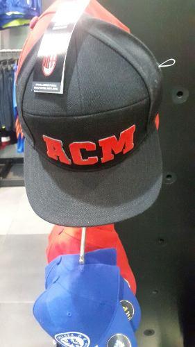 Gorra Cachucha Adidas Ac Milan Fitted Cap - Black/red