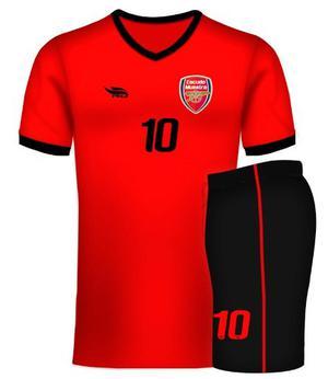 Uniformes Deportivos Futbol. Colores Combinados. Diseños Rd
