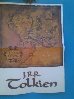 Mapa De Las Tierras Medias (middle Earth Lands) De Tolkien.!