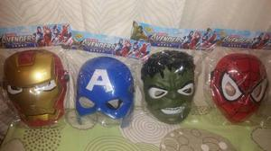 Mascara Vengadores, Avengers Luz Led, Hulk Iro Man Spiderman