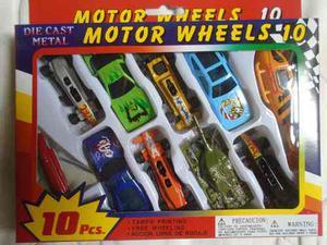 Set De 10 Carros Modelos Para Niños Helicoptero