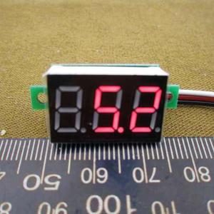 Voltimetro Digital Mini 3 Cables L E D Rojo D C () V