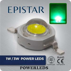 Led 1w Verde Epistar High Power 10 Leds + 10 Bases