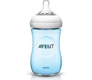 Tetero Biberon Bebes Avent Natural 9 Oz 260 Ml Azul-original