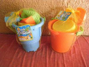 Baldes Playeros Para Niños + Obsequio Por Compra