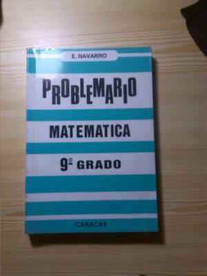 Libro Problemario Matemática 9° Grado E. Navarro
