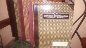 Libros De Contabilidad De 3 Columnas De 100 Y 200 Folios