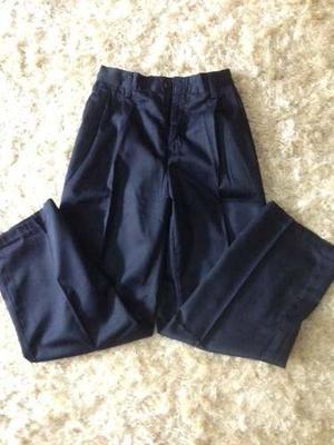 Pantalón Escolar Gabardina C/goma Espalda Talla 4 A La 12