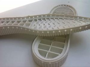 Suelas Perforadas P / Tejido Crochet Caramelo Y Negra