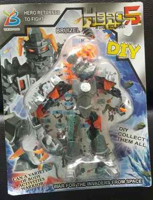 Juguete Muñeco Robot De Accion Hero 5