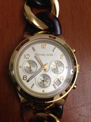 Reloj Michael Kors Original Dorado Animal Print
