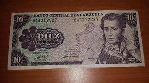 Billete De 10 Bolivares Año