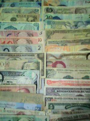 Colección De Billetes Antiguos De Venezuela Y El Mundo...