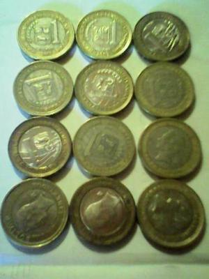 Colecciónes Por Juego De 12 Monedas Venezolanas...