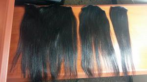 Extensiones de cabello natural color castaño medio/oscuro