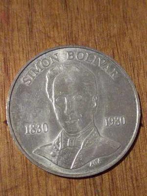 Moneda 100 Bs Conmemorativa Simon Bolivar