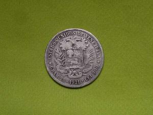 Moneda 5 Bolivares Plata  Fuerte Coleccion