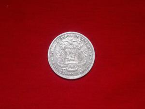 Moneda 5 Bolivares Plata  Fuerte Coleccion !inmaculado!!