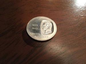 Moneda De 10 Bs De Plata Simón Bolívar .
