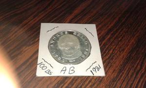Moneda De Plata 100bs Bicentenario Andres Bello