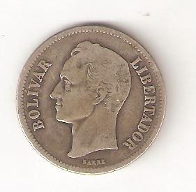Moneda De Plata- 2 Bolivares