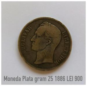 Moneda De Plata Gram 25 Lei 900