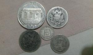 Moneda De Plata Venezolanas De Coleccion