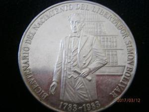Monedas De Plata Bicentenario Del Libertador Simon Bolivar