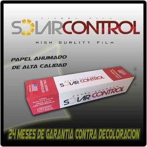Papel Ahumado Solarcontrol 1 Metro De Ancho