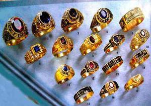 Venta de anillos de graduación y aros de matrimonio en oro