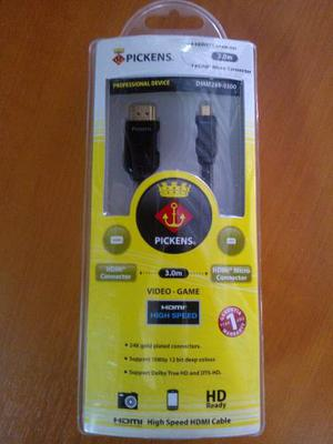 Cable Pickens Hdmi Tipo A Micro Hdmi 3m