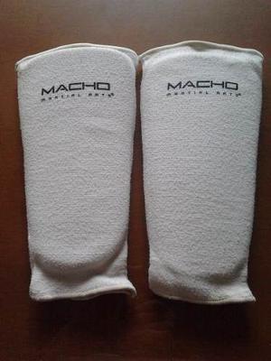 Canilleras Espinilleras Taekwondo Adulto Marca Macho 28cms