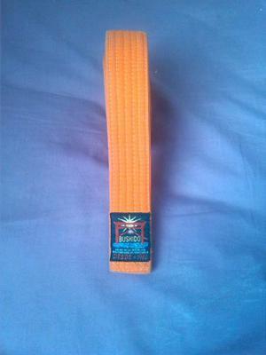 Cinturón De Karate Bushido Naranja