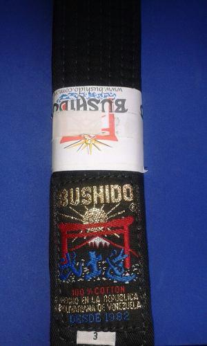 Cinturon Negro Bushido (talla 3)