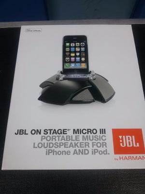 Corneta Jbl On Stage Micro Lll Para Ipod Iphone Y Otros