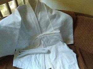 Kimono Judo Uniforme Blanco, Tejido De Arroz