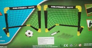 Porterias Arquerias De Futbol Para Niños + Balon + Inflador