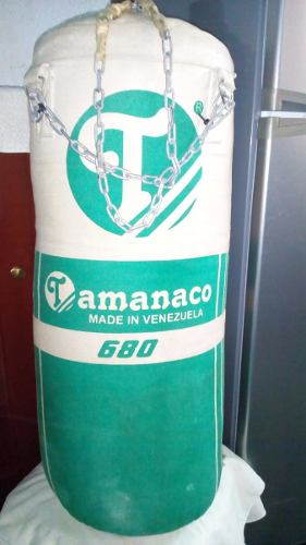 Saco De Boxeo Tamanaco 680 Con Cadenas Para Guindarlo