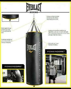 Saco Power Core 100lb Everlast Boxeo Mma Kick Boxing Nuevo