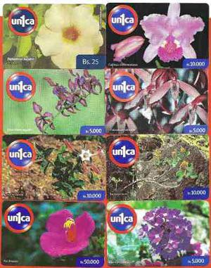Set De Tarjetas Unica Flora Nacional 8 Pz.