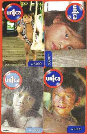 Set De Tarjetas Unica Niños Indigenas 4 Pz,