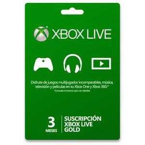 Tarjetas Xbox Live Gold 3multiregión Entrega Inmediata