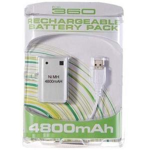 Xbox 360 Rechargeable Battery Pack Ni Mh  Mah Usb