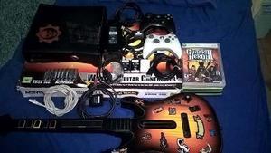 Xbox 360 Slim 260gb Con Rgh + Mas De 50 Juegos + Guitarra